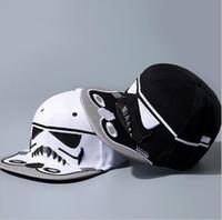brand hip hop cap - New Embroidery Fashion Brand Star Wars Snapback Caps Cool Strapback Letter Baseball Cap Hip hop Hats For Men Women