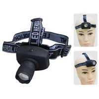projecteur aaa achat en gros de-Wholesale-Portable 3W CREE LED Zoomable Headlamp AAA Head Torch Light Flashlight 3-Mode