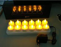 al por mayor 12 velas led recargable-12 velas recargables boca calidad LED simulación electrónica de la vela de la boda no bar vela