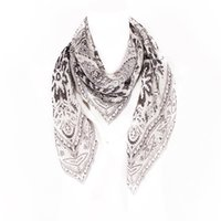 cotton square scarves - Big Size Women Pashmina Scarves Squares Floral Totems Print Square Scarf Fashion Brand High Quality CM