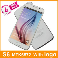 Wholesale Cheapest S6 G9200 MTK6572 Dual core Android Smart Cell Phone inch Show GB G LTE Fingerprint GSM Unlocked Mobile