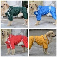 big red products - High quality Large Dog Raincoat Clothes Pet Dog Rain Coat Products Four Legs Big Dog Waterproof Poncho Yellow Red Green Blue hight quality