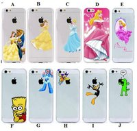 apple beauty case - Beauty and the Beast Belle PRINCESS LURORA Hard PC Clear matte case for iphone s C S plus case back cover