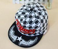 Cheap Fashion Dance Street Hat Swallow Gird Pattern Letters Hip Hop Snapback Caps DINGO Style Snapback Caps