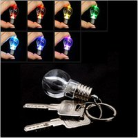 Wholesale 5 Change Color LED Light Mini Bulb KeyRing KeyChain Xmas