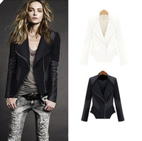 leather jackets for women - New Fashion Autumn Winter Women jacket Leather Jacket women Black zipper jackets for women Slim Faux Leather Jacket Coat D0707