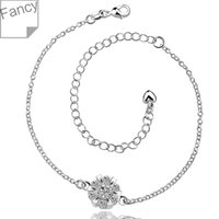 Wholesale Anklet silver anklet silver fashion jewelry anklet CM chain for modern women jewelry iopg LA032