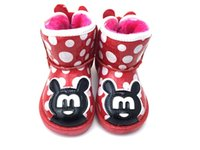 Wholesale 2016 the new hot style cartoon children warm winter cotton shoes han edition plus more wool and cotton cartoon boots ZJ1341