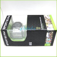 Wholesale New Mini Waterproof HD Action Sports Camera Diving fps H P MP Camera Inch View DV HDMI Camcorders Remote control