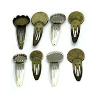Beadsnice épingle de cheveux de mode avec plateau vierge en laiton ronde fleur cheveux clip arc femmes cheveux accessoires bijoux épingles ID 32182