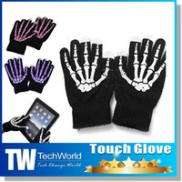 Wholesale Touch Glove For iPhone s Touch Screen Gloves For Capacitive Touch Screens iPhone iPad Tablet PC Phone Women Man Kint Snow Winter Gloves