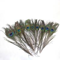 Wholesale 50Pcs Natural Peacock Feathers quot quot cm cm Wedding Party Home Hat DIY Decor Decoration Supply
