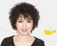 age human hair wig - Komaki human hair wig fashion short hair female middle aged mom real hair short Chinese real hair wig lifelike