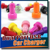 Wholesale For Iphone Mini Car Charger Colorful Ports Nipple Car Adapter Cigarette Plug mAh Auto Power Adapter Opp Package