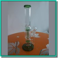 1 18 - Glass water bong glass smoking pipe color clear with honey comb percs tyre perc inches height thickness mm mm joint
