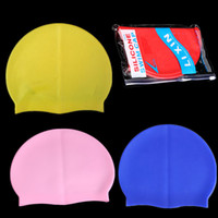 Wholesale Manufacturers selling new pure color swimming cap men s lady silicone swimming cap Extremely elastic Non Toxic Non Allergenic