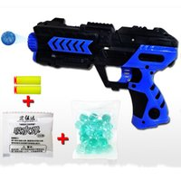 Wholesale 2015 New Style Paintball Gun Pistol Soft Bullet Gun Toy for Children Plastic Material Shooting Water Crystal Gun