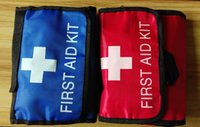 auto first aid box - 38pcs pack Safe Portable first aid bag home car outdoor travel medical bag Mini auto emergency kit box camping survival FAK A03