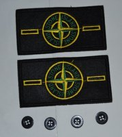 Wholesale 10 sets spot embroidered standard arm badge button cloth standard tag made