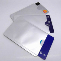 Wholesale Anti Theft Credit Card Holder Aluminum RFID Blocking Sleeve Protect your money and ID