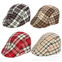baby hats uk - Baby Boy Striped Beret Hat Caps UK Style All match Cotton Children s Caps kids Hats free ship