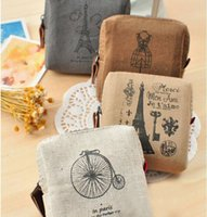 Wholesale 2015 new Vintage canvas bag Coin keychain keys wallet Purse change pocket holder organize cosmetic makeup Sorter Y60784
