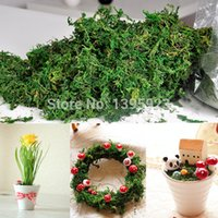 Wholesale New Artificial Dried Reindeer Moss for Flowers Basket Home Graden Garland Decor