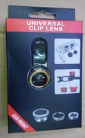 Wholesale 2015 Best selling Universal in1 Clip On Fish Eye Lens Wide Angle Macro Mobile Lens For iPhone Samsung Galaxy S4 S5 All Phones fisheye