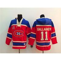 Wholesale Canadiens Brendan Gallagher Red Hockey Hoodies New Season Lace Up Winter Sportswear Cheap Mens Hockey Shirt Newest Hockey Sports Jacket