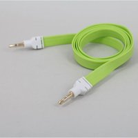 Wholesale 3 MM Fla Noodle AUX Audio Cable Male to Male Plug Audio Cables for Mobile Phone Stereo AUX Extended Cables YT YU3