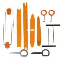 Wholesale 12 set Plastic Car Radio Door Clip Panel Trim Dash Audio Removal Pry Tool Repairing Set