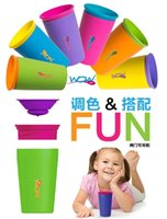 Wholesale color options Genuine Wow Cup original good quality for Kids with Freshness Lid Spill Free Drinking Cup