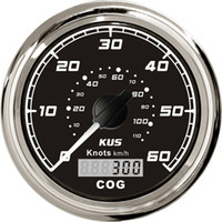 Wholesale 85mm GPS speedometer FMSB L with mating antenna black faceplate stainless steel bezel for boat marine