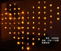 party tent - Romantic LED Bead Curtain Light m m Leds Heart Shape Door Curtain Christmas Backdrop Tent Fly Xmas Wedding Party Porch String Lights