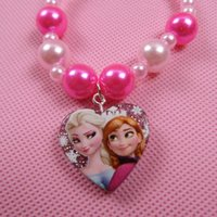 character resins - 2015 Rushed Limited Resin Hair Jewelry Tiara Snow Romance Necklace Jewelry Birthday Gift for Children Cartoon Characters