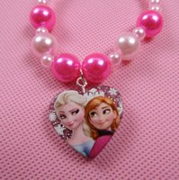 character resins - Tiara Noiva Rushed Limited Resin Hair Jewelry Tiara Snow Romance Necklace Birthday Gift for Children Cartoon Characters