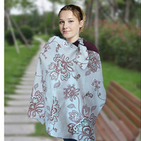 baby nursing cover - 20pcs Cotton Blend Washable Printting Nursing Cover Women Udder Covers Breastfeeding Baby Blanket Cloth Bag Types