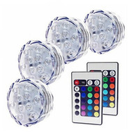 Cheap LED Submersible Light RGB Remote Control Light Waterproof LED Candle Light Submersible LED light LED Vases Base Light Valentine's day Gifts