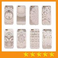 Белых слонов Цены-Хна Белый Цветочные Пейсли Цветочные Mandala слон Сова Ловец снов прозрачная мягкая Вернуться ТПУ обложка чехол для iPhone 5 5S 6 6S Plus