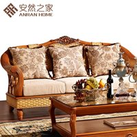 Wholesale The new home of Enron rattan factory direct US Hin home series combination of rattan cane bamboo sofa Chongqing