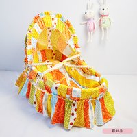 Wholesale Hot Soft and Comfortable Baby Basket Husk Straw Braid Bassinet for Baby Carrycot Travel Bed Portable Cribs CM