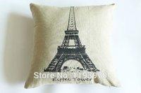 antique pillow cases - Antique Antique Paris La Tour Eiffel Linen and cotton Pillow Case Covers bolster Case