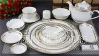 Wholesale Ceramics China Dinner Sets ECO Friendly Flower Planted White Tableware Dishes and Plates Spoon Cup Sets