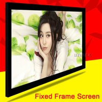 Wholesale Luxury Top Rank Home Theater Matte White100inch Fixed Frame Projection Projector PVC Screen