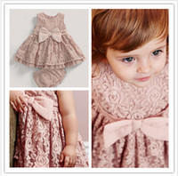 big girl underwear - 2016 New M Y Toddler Girl Clothing Lace Big Bow Baby Girl Dresses Underwear High grade Toddler Baby Outfits Kid Clothes