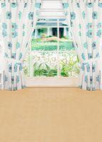 beautiful glass paintings - 600CM CM backgrounds Beautiful flower garden house window glass photography backdrops photo LK