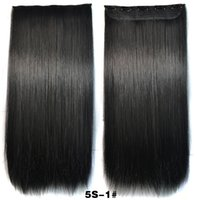 Wholesale Clip In Synthetic Hair Extensions inch cm g Clips In Hair Clip In Hair Extentions Clip In Synthetic Staright Hair Colors