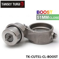 Wholesale Tansky High performance NEW Boost Activated Exhaust Cutout Dump MM CLOSED Style Pressure about BAR TK CUT51 CL BOOST