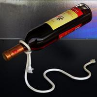 wine bottle holder - Creative Red Wine Bottle Holder Stainless Steel Rope Style Home Bar Bracket Rack Suspension Bar Tools