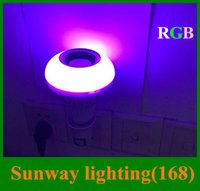 bulbs and lighting - LED Bulbs Wireless Bluetooth E27 W LED Speaker Bulb RGBW Music Playing Lighting by mobile control and Keys IR Remote Control